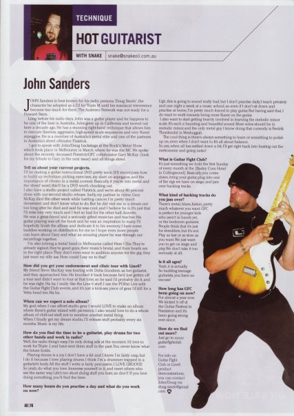 guitar article